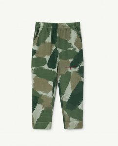 30%OFF/The Animals Observatory RHINO KIDS PANTS GREEN CAMOUFLAGE