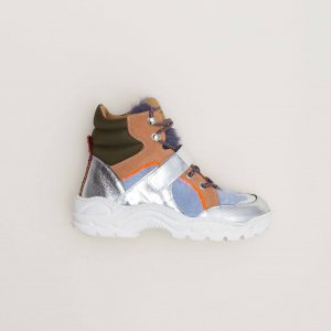 MAISON MANGOSTAN RUBUS SILVER sneakers