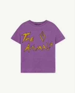 The Animals Observatory ROOSTER KIDS T-SHIRT VIOLET THE ANIMALS