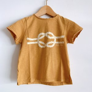 30%OFF/TOCOTO VINTAGE  Rope Knot T-shirt MASTARD
