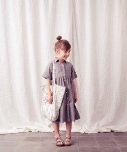 TOCOTO VINTAGE Stripe Bag GREY