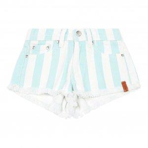 30%OFF/piupiuchick  light blue stripes shorts