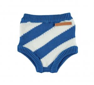30%OFF/piupiuchick  kinitted waist shorties indigo diagonal stripes