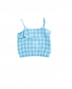 30%OFF/Longlivethequeen Ruffle Tops Check