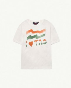 LAST ONE!!30%OFF/The Animals Observatory ROOSTER KIDS T-SHIRT White Flag