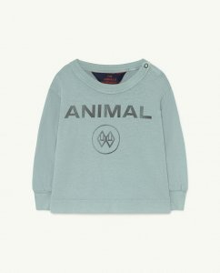 LAST ON!!30%OFF/The Animals Observatory DOG BABY T-SHIRT BLUE ANIMAL