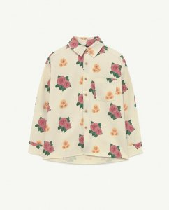 30%OFF/The Animals Observatory WOLF KIDS SHIRT White Flowers