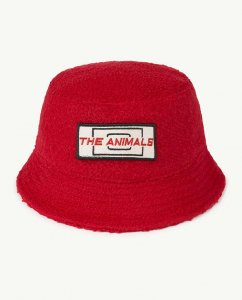 The Animals Observatory STARFISH  KIDS HAT RED