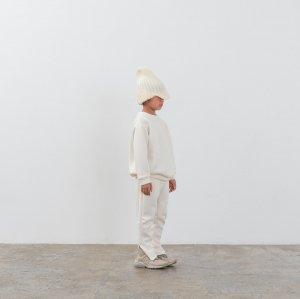 MOUN TEN. double knit crewneck white