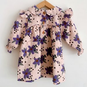 30%OFF/piupiuchick  baby peter pan dress with frills on shoulders