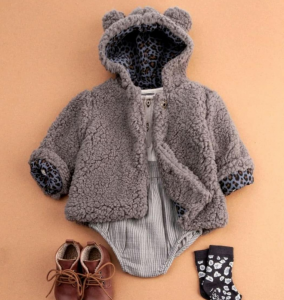 30%OFF/TOCOTO VINTAGE Ears hood faux fur coat with animal print lining