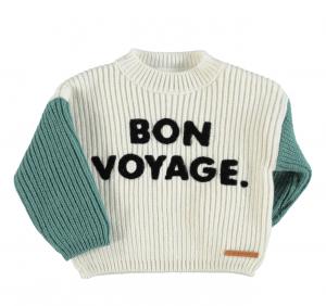 30%OFF/piupiuchick  Knitted sweater emerald&ecru