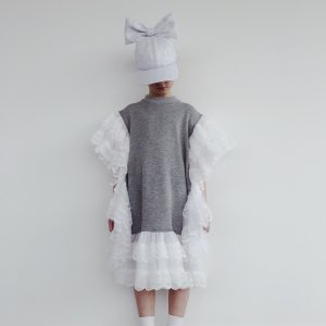 LAST ONE!!CAROLINE BOSMANS RUFFLE DRESS