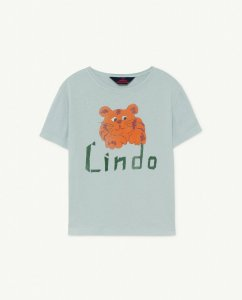 The Animals Observatory ROOSTER KIDS T-SHIRT Blue Rindo