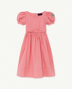 The Animals Observatory PEACOCK KIDS DRESS Pink Tao