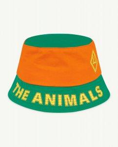 The Animals Observatory STARFISH  KIDS HAT GREEN/ORANGE