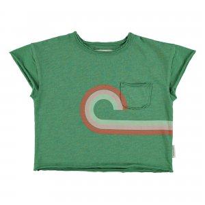 piupiuchick  t-shirt green multicolor