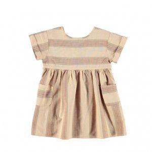 piupiuchick  short dress almond&multicolor stripes