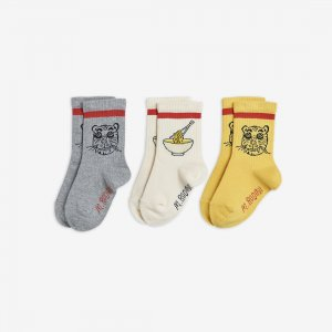 <img class='new_mark_img1' src='https://img.shop-pro.jp/img/new/icons14.gif' style='border:none;display:inline;margin:0px;padding:0px;width:auto;' />LAST ONE!!mini rodini  TIGER 3PACKS SOCKS