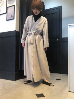 【予約】[2color]ロングカーデワンピ