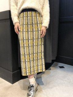 【即納】チェックタイトニットスカート