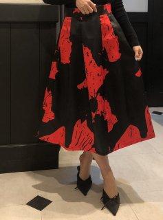 【即納】レッドモードフレアスカート