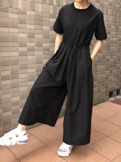 【予約】ドロストジャンプスーツ/ブラック