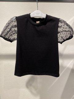 【即納】袖シースルーTシャツ