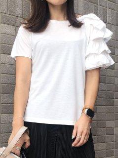 【即納】左肩フリルTシャツ