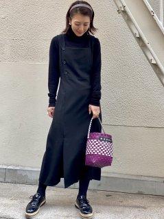 【即納】フロントボタンジャンパースカート