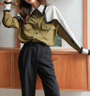 【予約】フリンジ切替オーバーシャツ