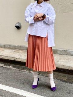 【即納】エコレザープリーツスカート