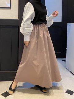 【即納】ポプリンギャザースカート
