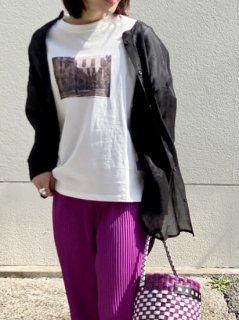 【即納】スタンドカラーシアーシャツ