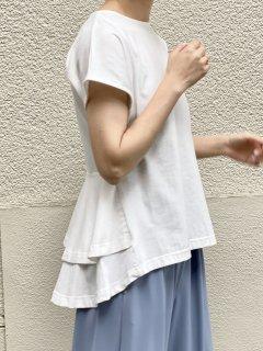 【即納】バックフリルペプラムTシャツ