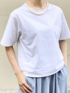 【即納】ネックパールTシャツ