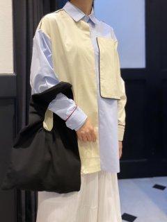 【即納】カラーパイピングビッグポケットシャツ