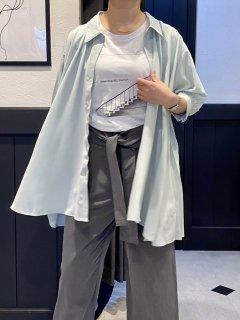 【即納】バックプリーツシアーシャツ