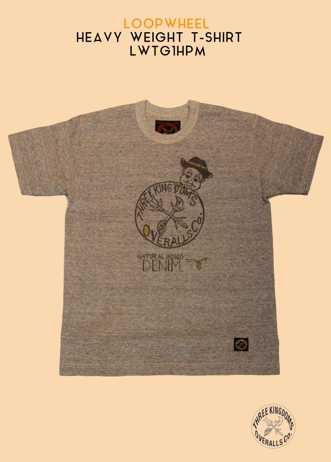 LWTG1HPM LOOPWHEEL HEAVY WEIGHT T-Shirt(Grandrelle Gray)