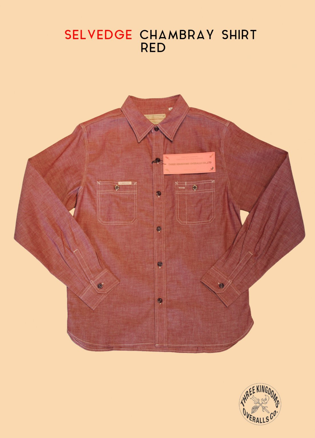 CB01Sr CHAMBRAY SHIRT (RED)