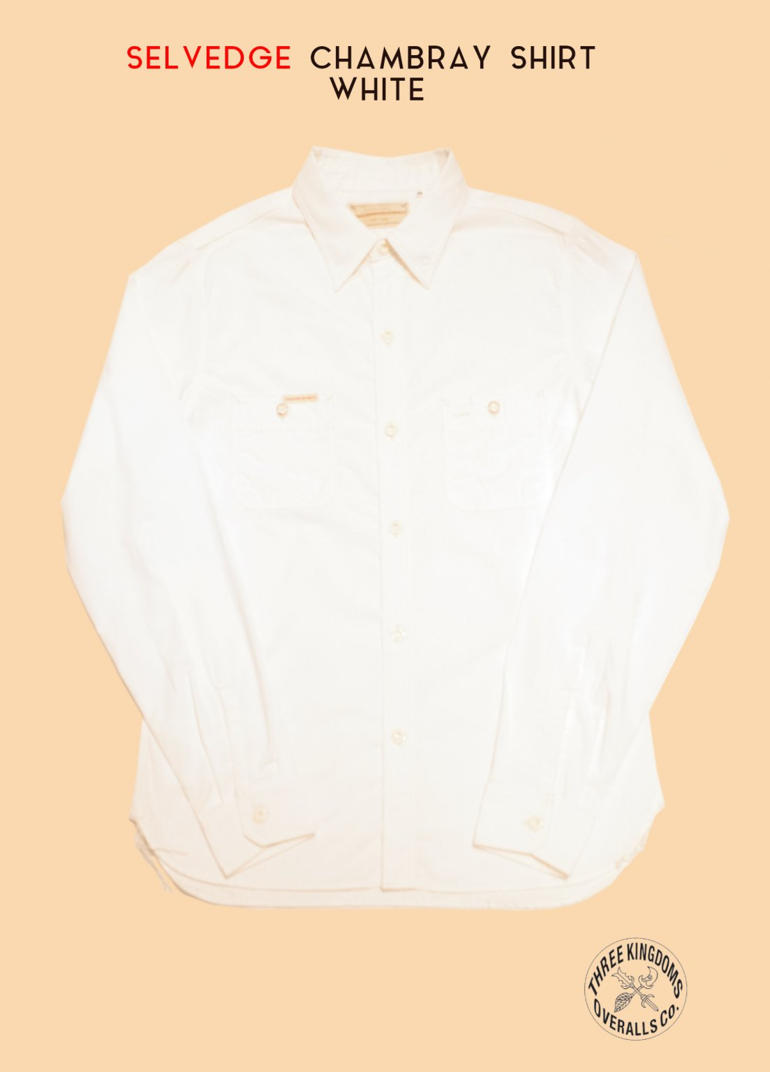 CB01Sw CHAMBRAY SHIRT (WHITE)<img class='new_mark_img2' src='https://img.shop-pro.jp/img/new/icons14.gif' style='border:none;display:inline;margin:0px;padding:0px;width:auto;' />