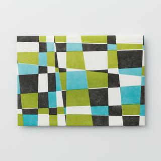 デザイン封筒【モザイク Green & Brue】/3枚セット