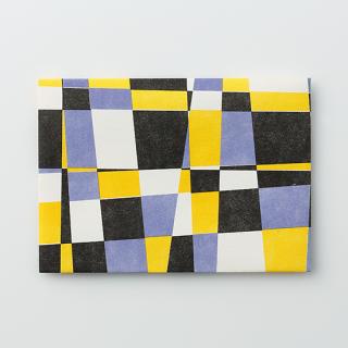 デザイン封筒【モザイク Purple & Yellow】/3枚セット
