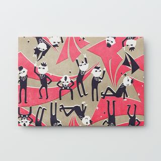 デザイン封筒【おどるスーツ】/3枚セット