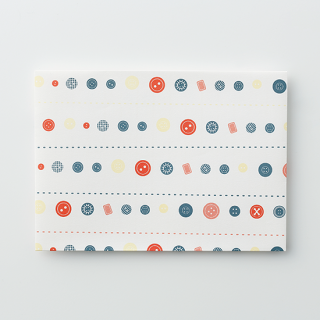 デザイン封筒【ボタンだらけ】/3枚セット