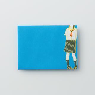 大人のポチ袋【セーラー女子がひとり・ブルー】/3枚セット