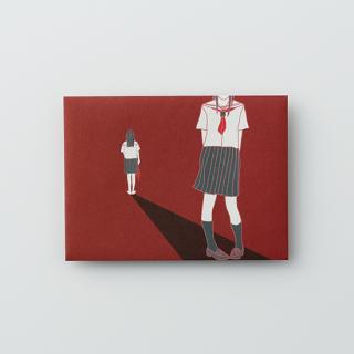 大人のポチ袋【セーラー女子がひとり・表と裏】/3枚セット