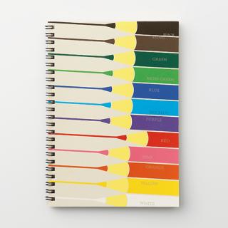 リングノート【色鉛筆ならんでる】