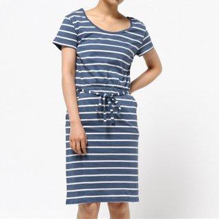 PACT Women's Pocket Dress_Denim Stripe