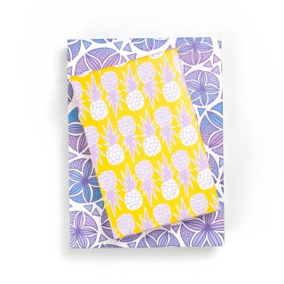 Wrappily(ラッピリー) エコ包装紙 スカシカシパン・フィエスタパイナップル 2枚セット